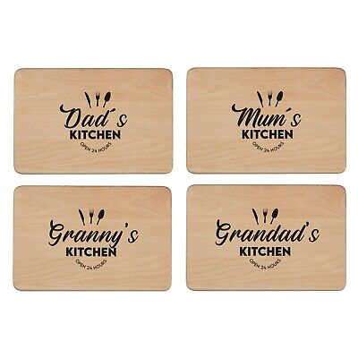 Personalised Wooden Beech Chopping or Cheese Board, Laser Engraved Message