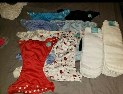 Lot of Charlie Banana AIO's cloth diapers and inserts, excellent condition