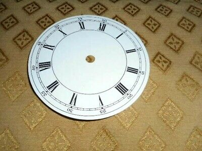 Round Paper (Card) Clock Dial - 125mm M/T / Outer Seconds Ring - Roman - Parts