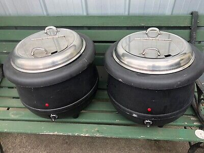 Soup Kettle 10L Warmer Black Sunnex Commercial Sauce Curry Mulled Wine