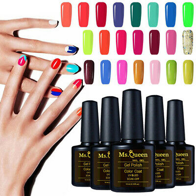 MS.QUEEN Gel Nail Polish No Wipe Top Base Coat Lacquer Manicure 168 Colors