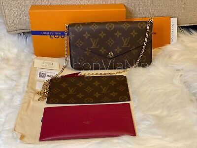 🌟BRAND NWT/Box Authentic Louis Vuitton Pochette Felicie Monogram With Inserts