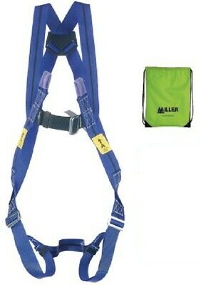 Miller By Honeywell FRONT, REAR ATTACHMENT STRETCHABLE SAFETY HARNESS Blue