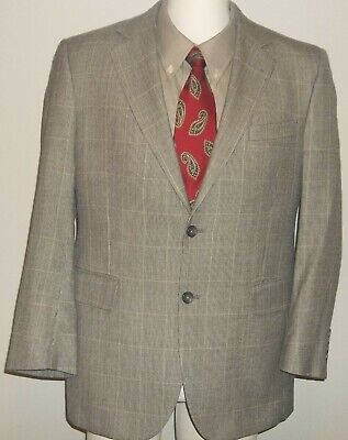 Men's JOS. A. BANK Blazer / Sport Coat SIZE 40S ~ Silk, Black Plaid Jacket