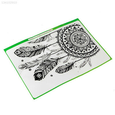 6ECD Retro Feather Pattern Vinyl Decal Black Sticker For Macbook Air Laptop^