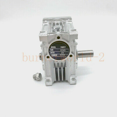 Worm Gearbox Reducer NMRV030 Output 14mm for NEMA23 Sevor/Stepper Motor