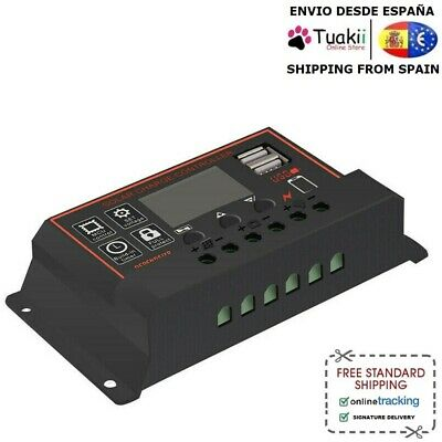 Charger Regulator Controller 30A PWM Solar battery 12V 24V