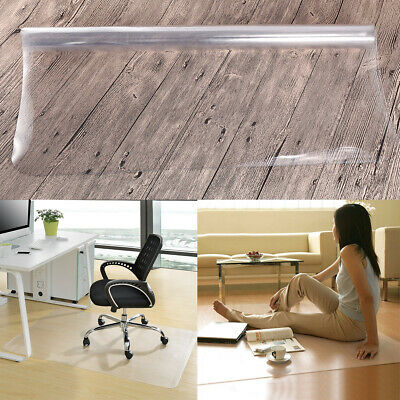 Chair Mat Hard Floor Protection PVC W1200 x D1200mm Clear/Transparent Square