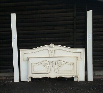 Louis XV Style Vintage French Painted Double Bed Frame - (CON53)