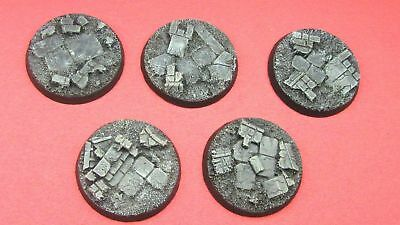 5 X Unpainted 40mm resin bases rubble Dreadnought Warhammer 40k Dark Imperium
