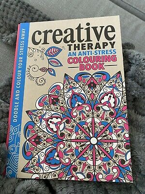 Creative Therapy An Anti Stress Adult Colouring Book (hardback) Mindfulness