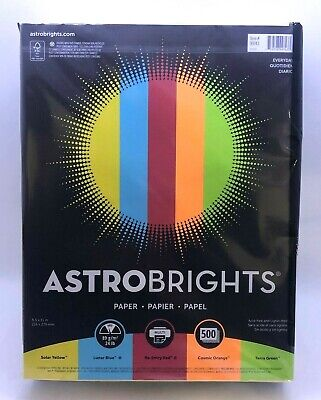Astrobrights Everyday  Paper 8.5 x 11 in, Bright Colors, 500 sheets