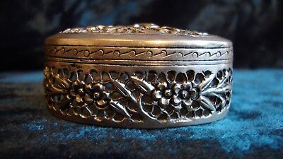 Chinese silver ornate cricket box, character marks to base