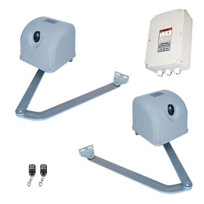 ALEKO Solar Kit Articulated Swing Gate Opener For Dual Gates Up To 700lb