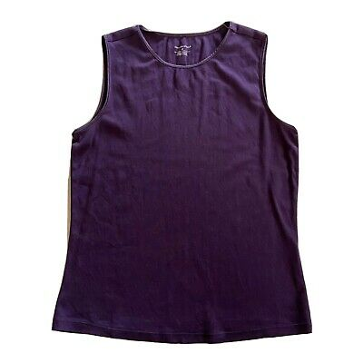 Christopher Banks Womens Size Medium Purple Solid Tank Top Cami Basic Sleeveless