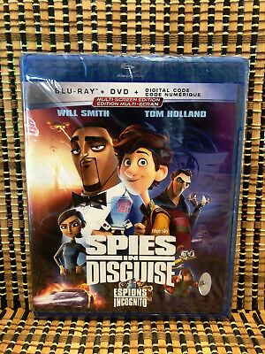 Spies in Disguise (2-Disc Blu-ray/DVD, 2020)Disney/Will Smith/Tom Holland
