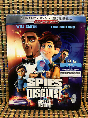 Spies in Disguise (2-Disc Blu-ray/DVD, 2020)+Slipcover.Disney/Will Smith/Tom Hol