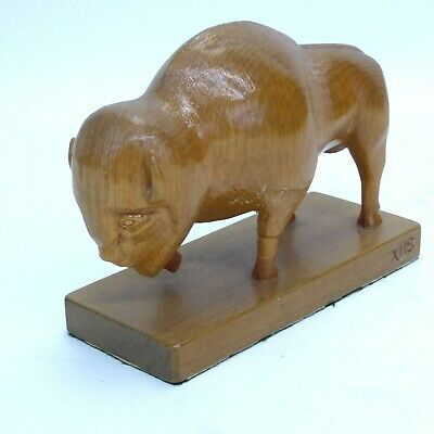 Folk Art Buffalo Carving