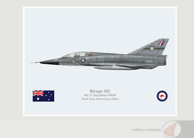 Warhead Illustrated Mirage IIID 77 Sqn RAAF A3-111 Aircraft Print