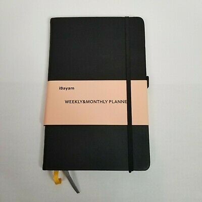 Black Planner 2020 2021, Undated 12 Month Planner, Academic Weekly Monthly