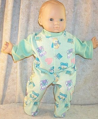 """Doll Clothes Baby HandMade 4 American Girl Boy 15/"""" Overalls 2pc Train Red Blue"""