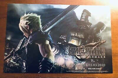 Pax West 2019 Exclusive Final Fantasy VII 7 Remake Poster Print Cloud Sephiroth