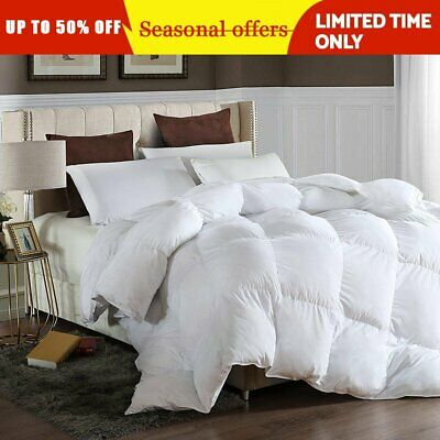 Goose Down Alternative Double Filled Luxury Comforter Warm King Queen Full Size