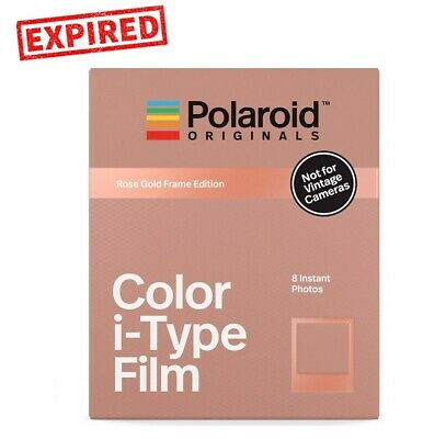 EXPIRED - Polaroid Originals ROSE GOLD Color Instant Film for i-Type OneStep 2