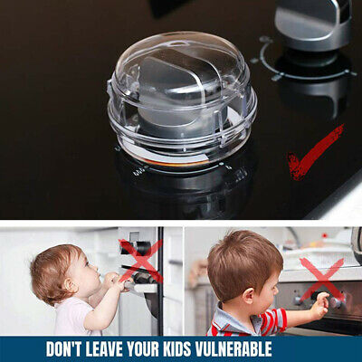 2Pcs Oven Stove Knob Safety Covers Guards Heat Resistant Child Proof Locks