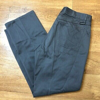 Yves Saint Laurent YSL Chino Trousers Straight Fit Grey W36 L31 (W36 L32 label)