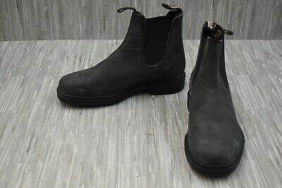 Blundstone 1308 Leather Pull On Dress Chelsea Boots, Men's Size 8, Rustic Black