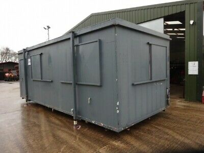 24ft Long 10ft Wide Grey Anti-vandal Office / Canteen / Cabin / Welfare Containe