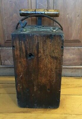 Antique Vintage Blasting Machine Dynamite Box Detonator Plunger