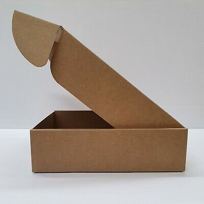Cardboard Lidded Box Postage Postal Packaging Mail Small Parcel Gift 7.8x7.8x2.2
