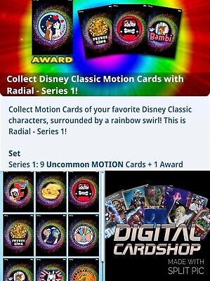Topps Disney Collect Card Trader Radial Motion Series 1 Set of 9 - Award Ready