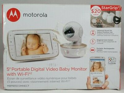 Motorola MBP855CONNECT Portable 5-Inch Color Screen Video Baby Monitor