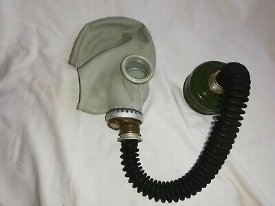 Soviet Russian USSR Military Gas Mask Hose GP-5 Grey Rubber 40mm Filter Surplus