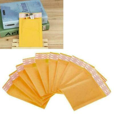 Yellow Kraft Bubble Mailers Padded Envelope Shipping Bags Self Packing Seal Q3V4