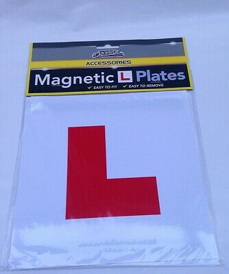 2 X Magnetic Exterior Car Learner Driver L Plates New