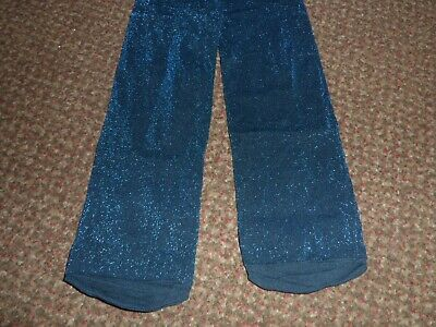 new Girls F+F dark blue glitter party Tights 9 - 10  YEARS - BNWOT - sparkly