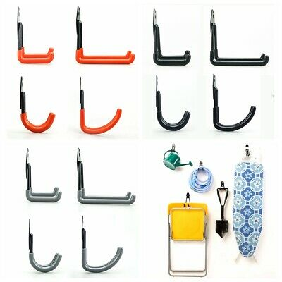 Garage Storage Wall Mounted Hooks Utility Heavy Duty Home Bracket Organizer D72