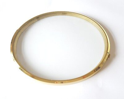 Brass Clock Bezel and Glass 172mm Outer Dia 157mm Inner Dia German Made Quality