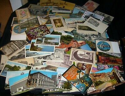 Lot Of 50 Plus Vintage Standard Size Postcards 1900'S-1970'S Stamped/Un-Stamped