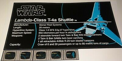 Star Wars Sticker for Lego® 10212 Imperial Shuttle UCS precut Replacement