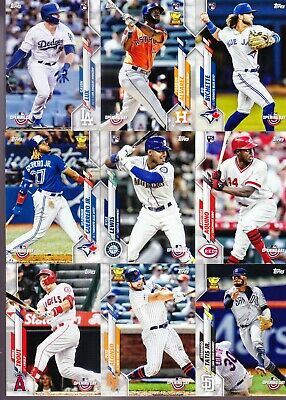 2020 Topps Opening Day Baseball Complete Set (1-200) w/Rc's Lux Bichette Alvarez