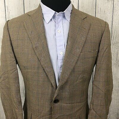Brooks Brothers Madison 1818 40R Brown Glen Check 2-Button Wool Sports Coat
