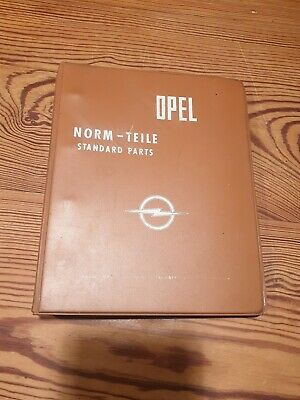 Opel Norm - Teile Standard Parts Catalogue Book 1974