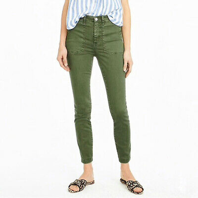 J. Crew F9469 Skinny Stretch Cargo Pants with Zippers, Size 27