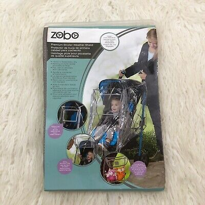 Zobo Premium Stroller Weather Shield Rain Cover Clear Plastic Vinyl Baby Kid New