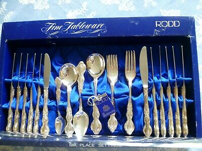 Vintage Rodd Balmoral 6  Place Setting Silver  Plate In Excellent Condition